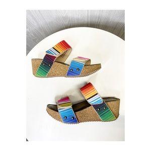Colorful Boutique Wedges size 8